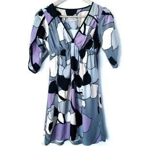 Alice & Trixie Multi Color Silk Easter Dress SZ XS
